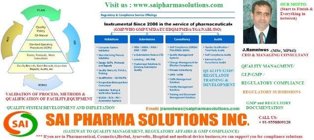 Quality managment and regulatory affairs