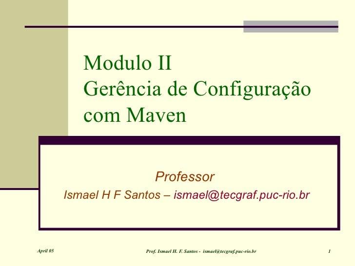 Gerência de Configuração com Maven