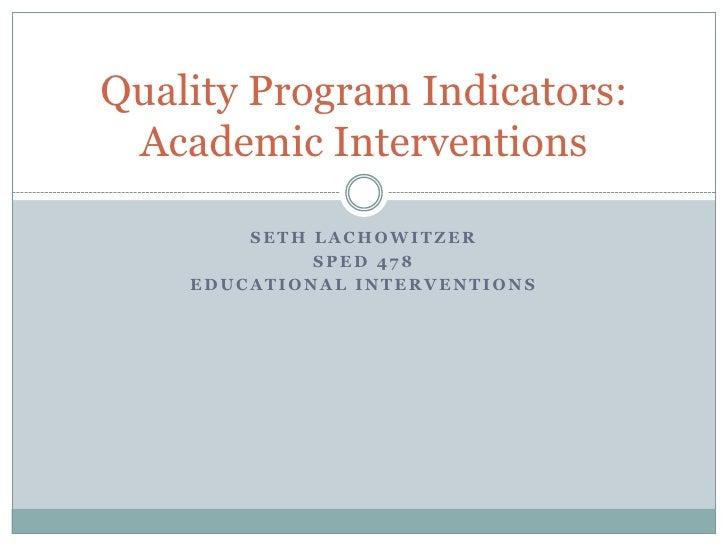 Quality Program Indicators 2