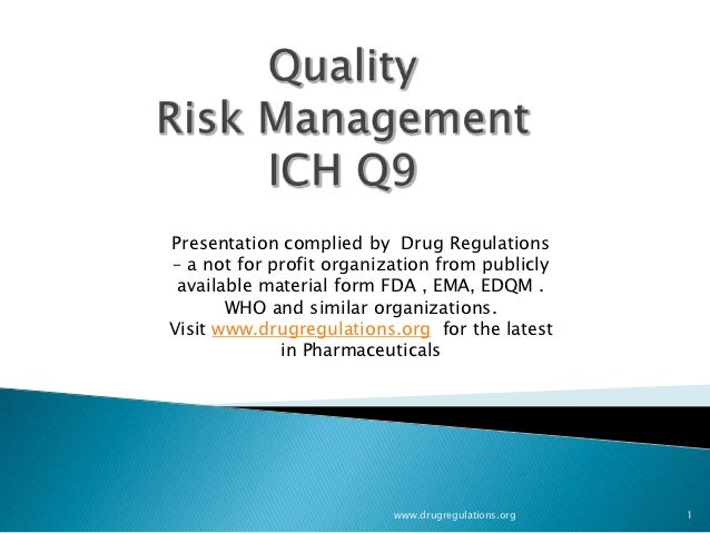 Quality risk management : Basic Content