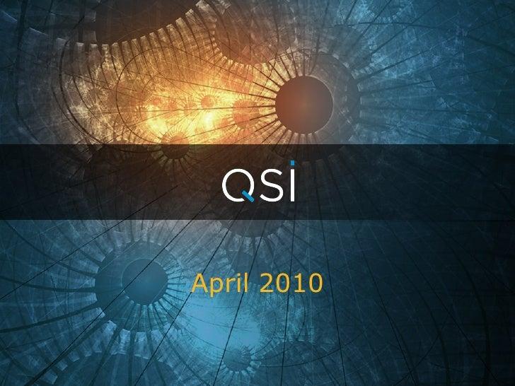 Quality Systems Presentation 04/01/10