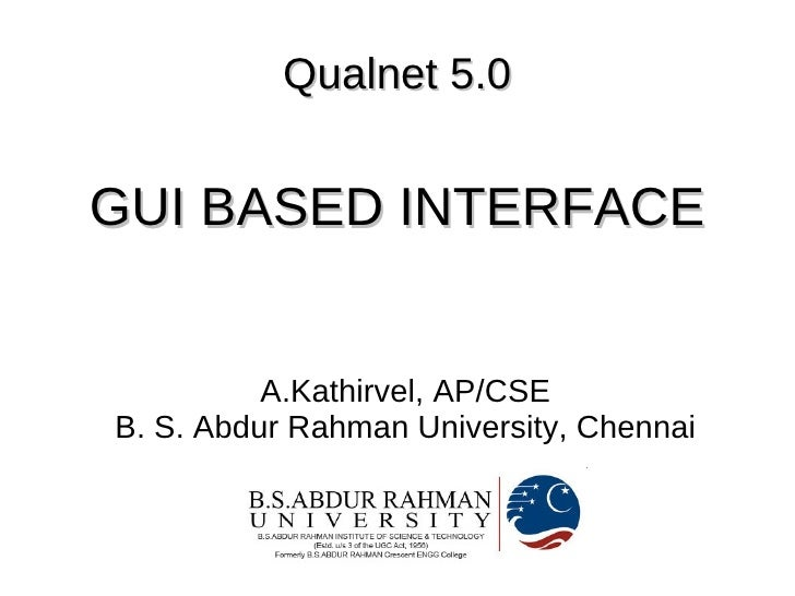 Introduction to Qualnet