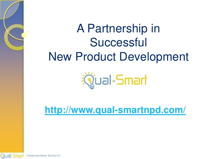 A Partnership in                                  Successful                            New Product Development           ...