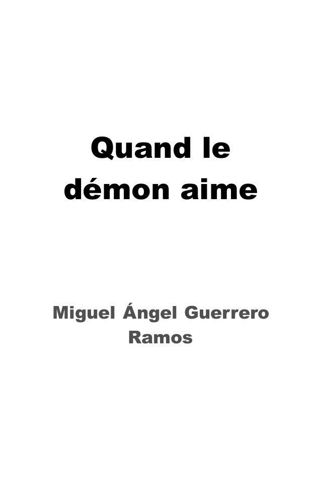 Quand le démon aime  Miguel Ángel Guerrero Ramos