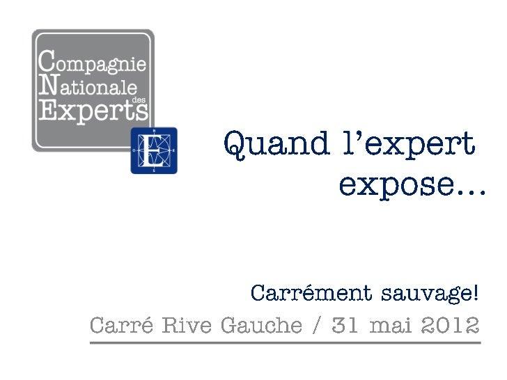 """""""Quand l'expert expose"""" : instantanés du Carré Rive Gauche"""