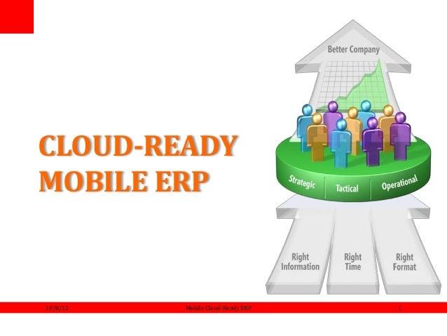 CLOUD-READY MOBILE ERP 10/8/12 Mobile Cloud-Ready ERP 1