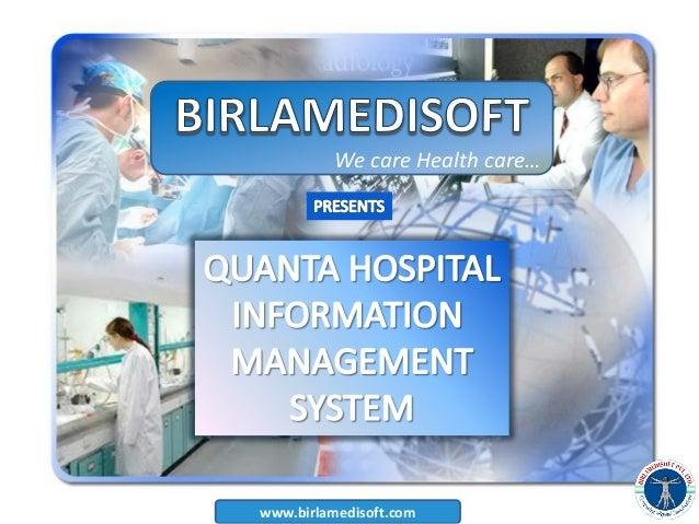 Hospital management software presentataion