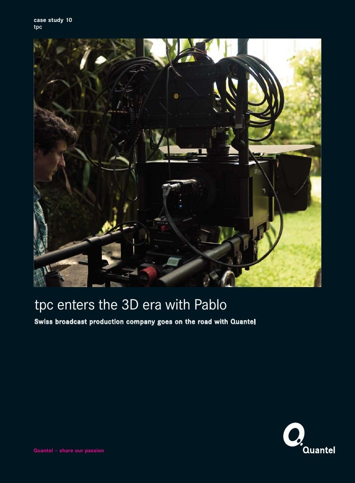 tpc enters the 3D era with Pablo