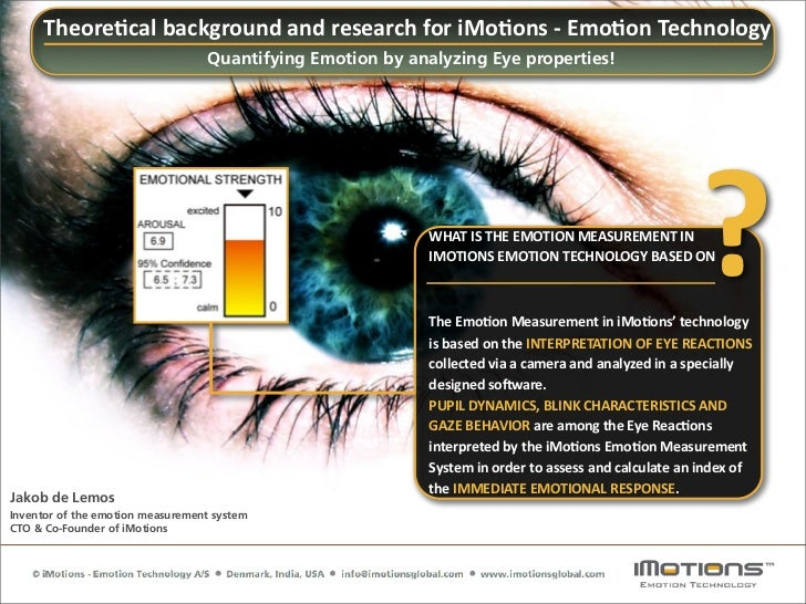 iMotions Attention Tool: Quantifying Emotion by Analyzing Eye Properties - Q&A for Research