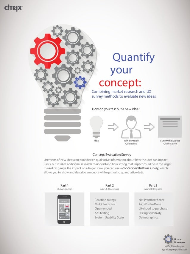 Quantify your concept: Combining market research and UX survey methods to evaluate new ideas How do you test out a new ide...