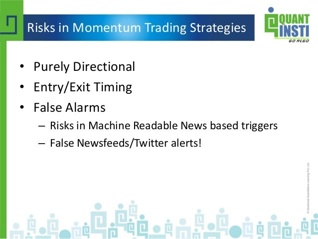 A momentum trading strategy based on the low frequency