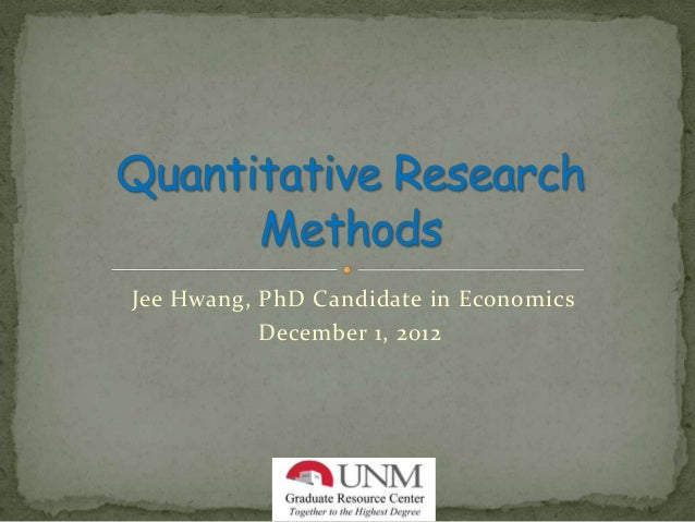 Jee Hwang, PhD Candidate in Economics           December 1, 2012