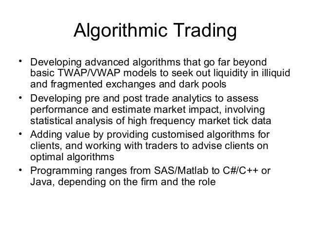 Thesis Algorithmic Trading – resume template job