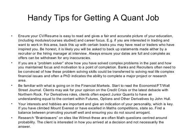 Cover Letter Sample Quantitative Analyst Example Good Resume