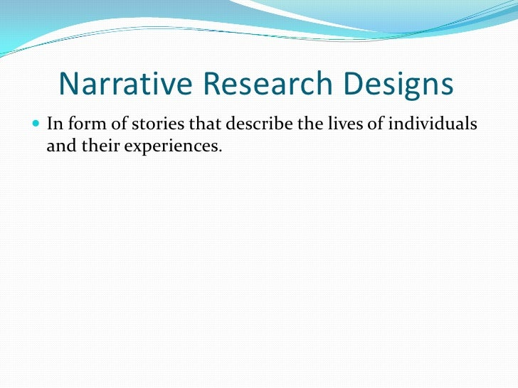Difference between narrative research paper