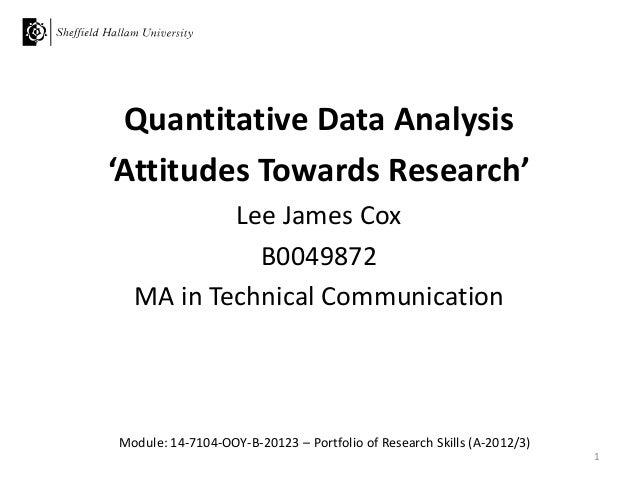 How to do data analysis in quantitative research