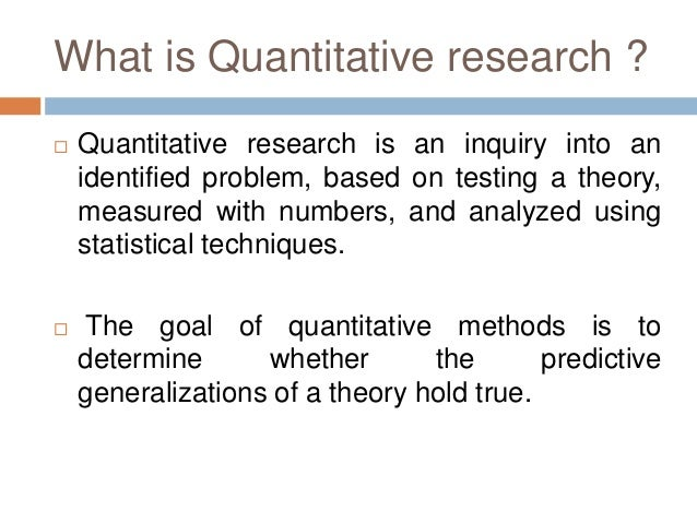 quantitative method research paper Sampling: what is it quantitative research methods engl 5377 spring 2007 the purpose of this paper is to describe sampling as a method of data collection.
