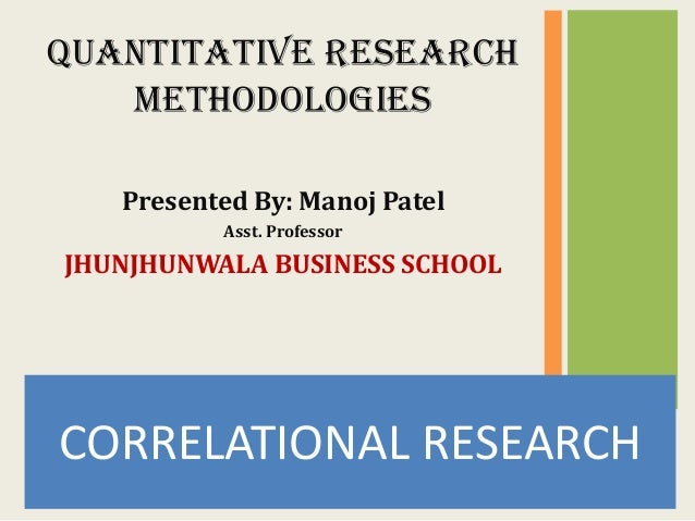 Correlational research example
