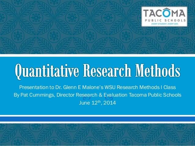 Cummings Quantitative Research Methods
