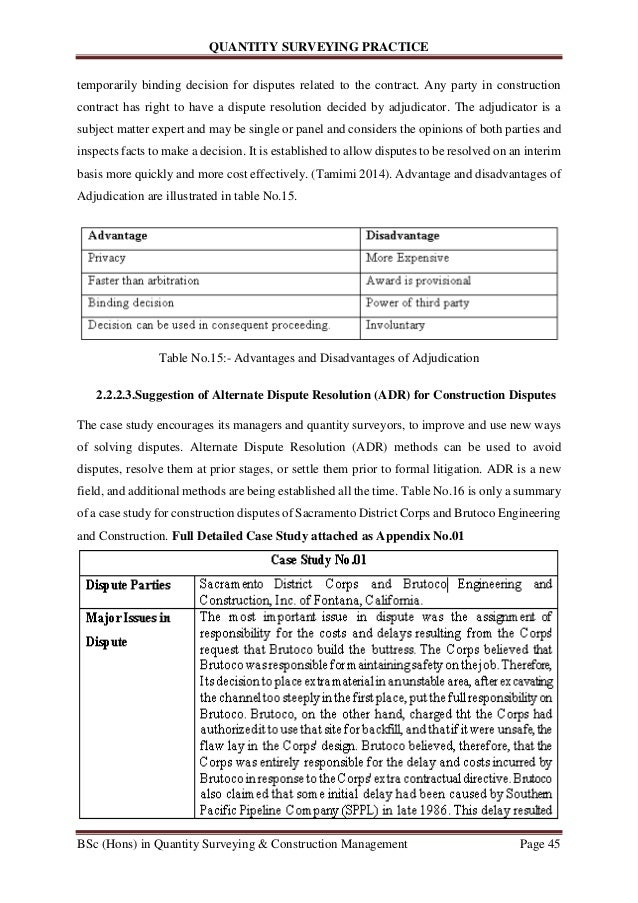 advantages and disadvantages of alternative dispute resolution pdf