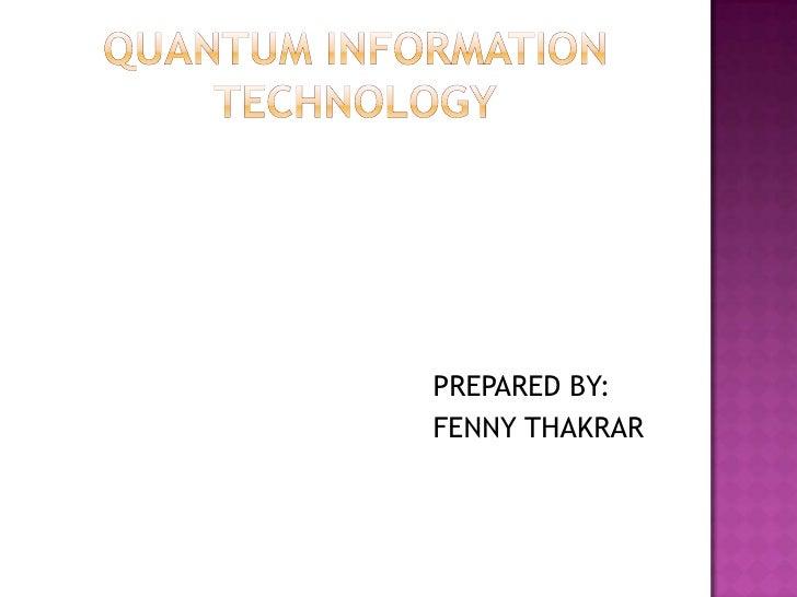 PREPARED BY:FENNY THAKRAR