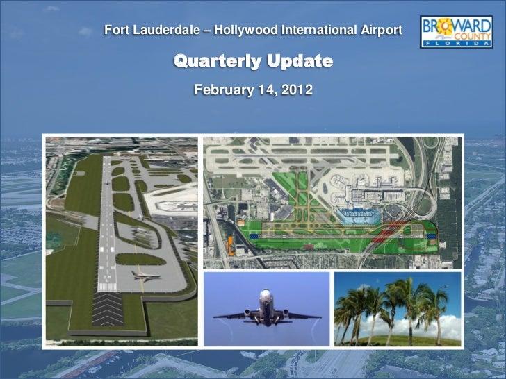 Airport Quaraterly update feb.14 2012