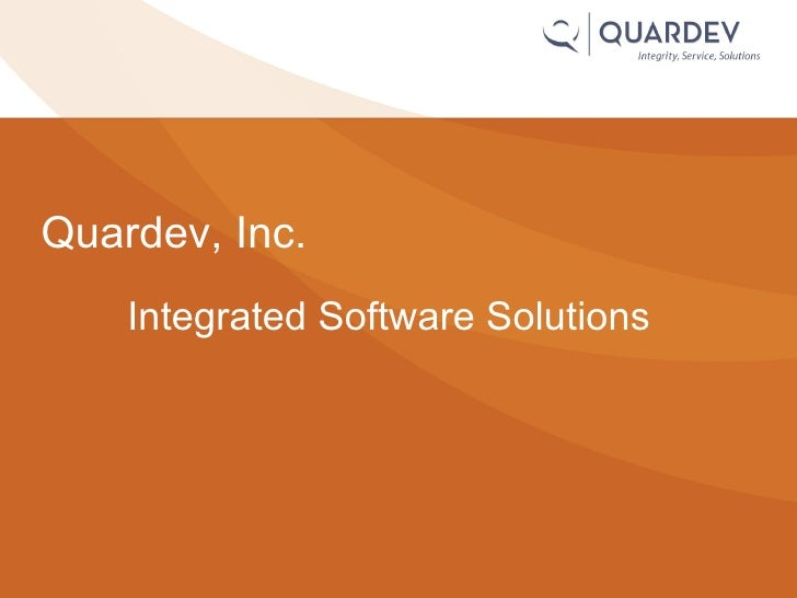 Integrated Software Solutions Quardev, Inc.