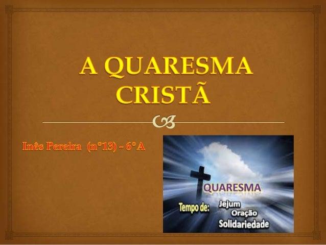 Quaresma Cristã