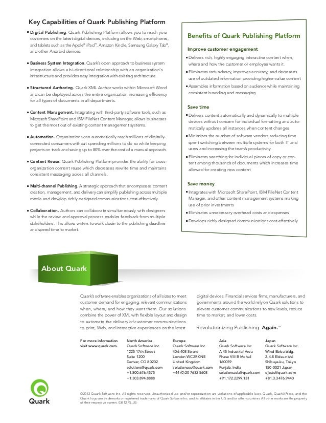 Quark Publishing Quark Publishing Platform