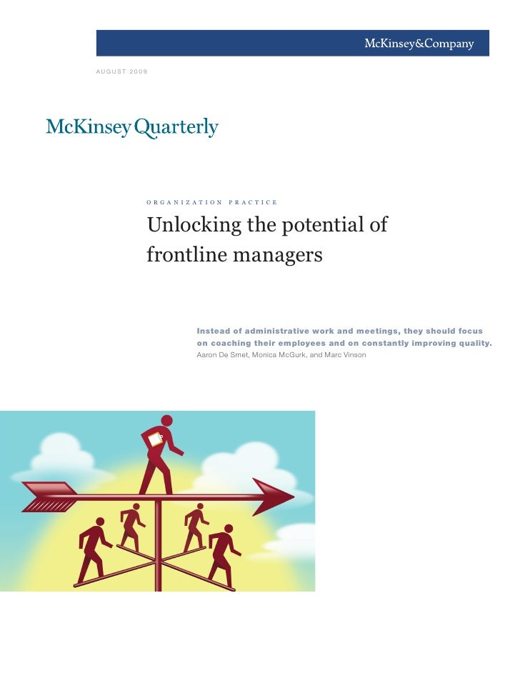 Unlocking The Potential Of Frontline Managers