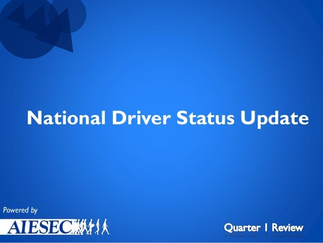 National Driver Status Update  Powered by