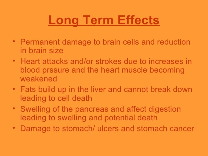 a description of the short term and long term of effects of marijuana in our body