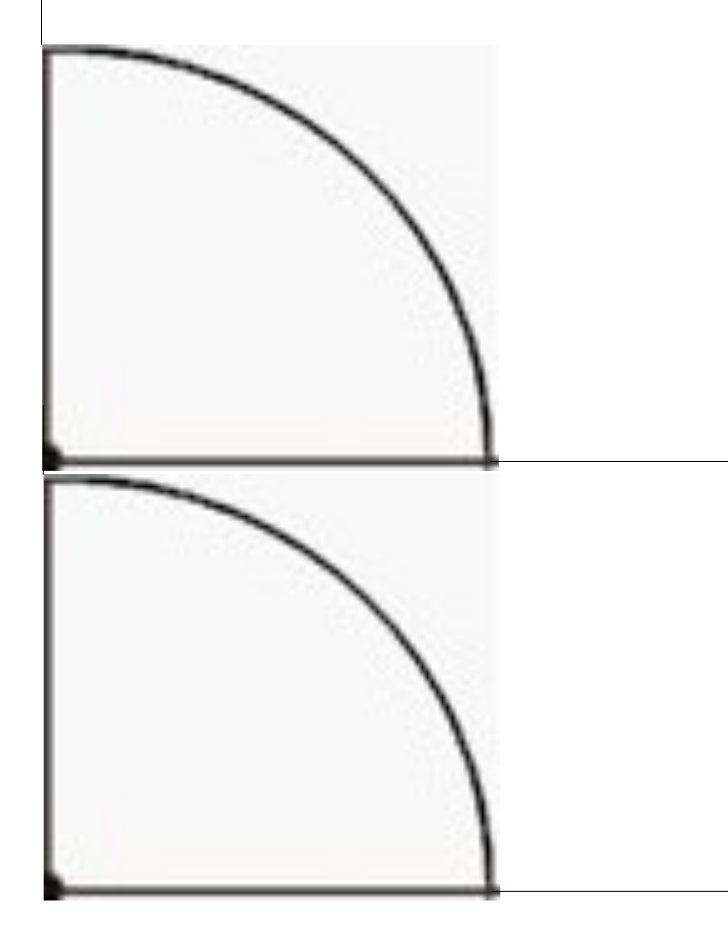Quarter circle color worksheet