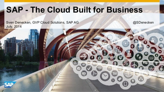 Use this title slide only with an image SAP - The Cloud Built for Business Sven Denecken, GVP Cloud Solutions, SAP AG @SDe...