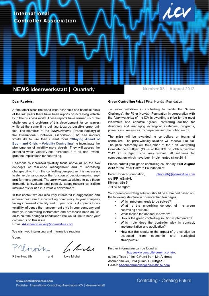 International Controller AssociationNEWS Ideenwerkstatt | Quarterly                                                       ...