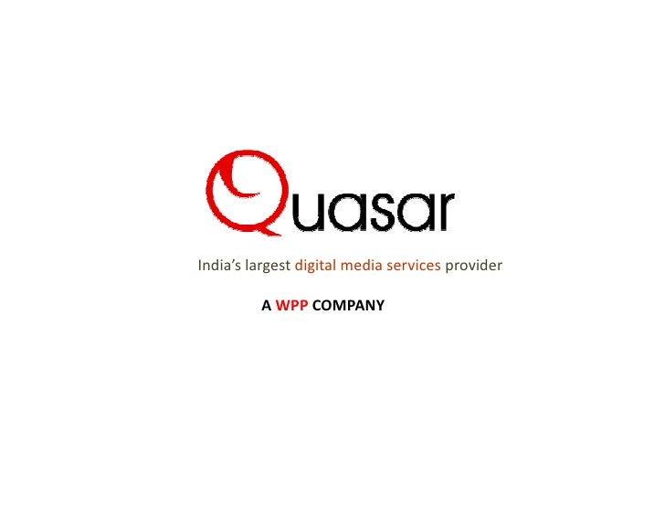 India's largest digital media services provider         A WPP COMPANY
