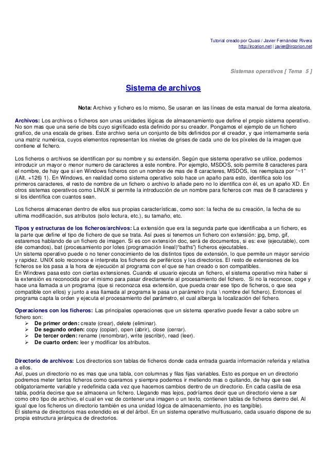 Tutorial creado por Quasi / Javier Fernández Rivera                                                                       ...