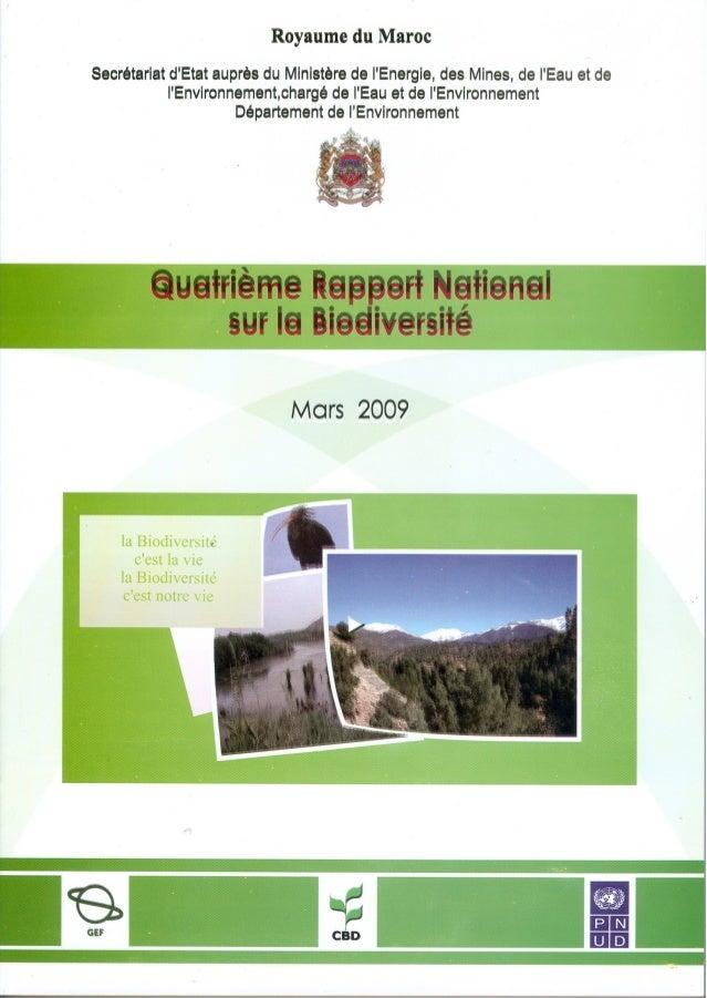 Secrétariat d'Etat auprès du Ministère de l'Energie, des Mines, de l'Eau et de l'Environnement,chargé de l'Eau et de l'Env...