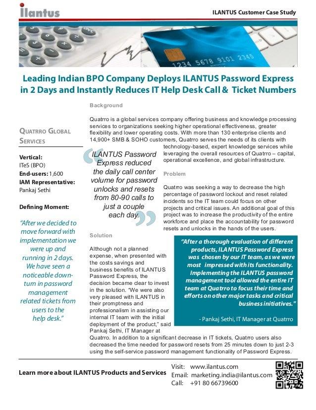 ILANTUS Customer Case Study: Quatrro