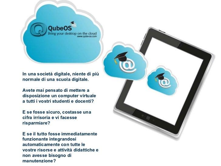 Qube-OS Cloud e computer virtuali per la scuola
