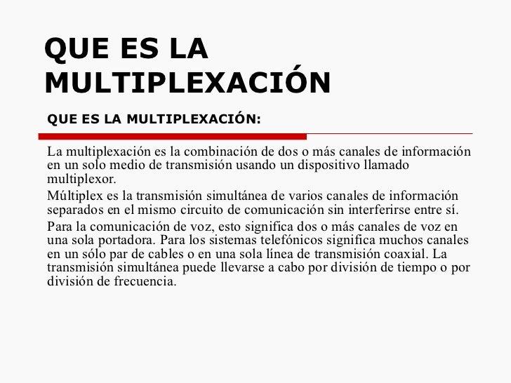Que Es La MultiplexacióN