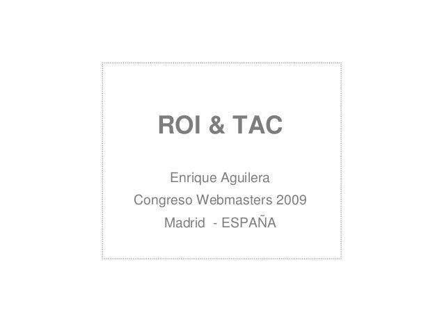 ROI y TAC