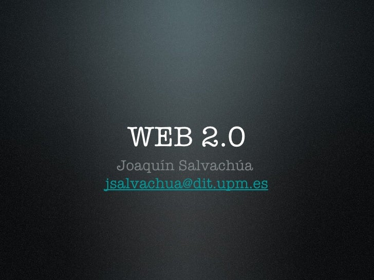 ¿Que es la Web 2.0?