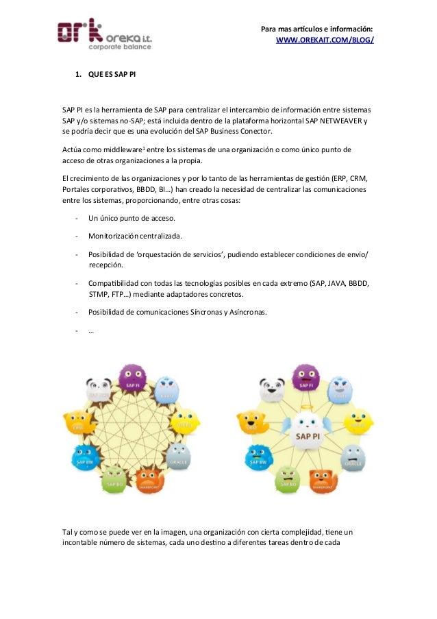 ¿Que es SAP PI? (Process Integration)