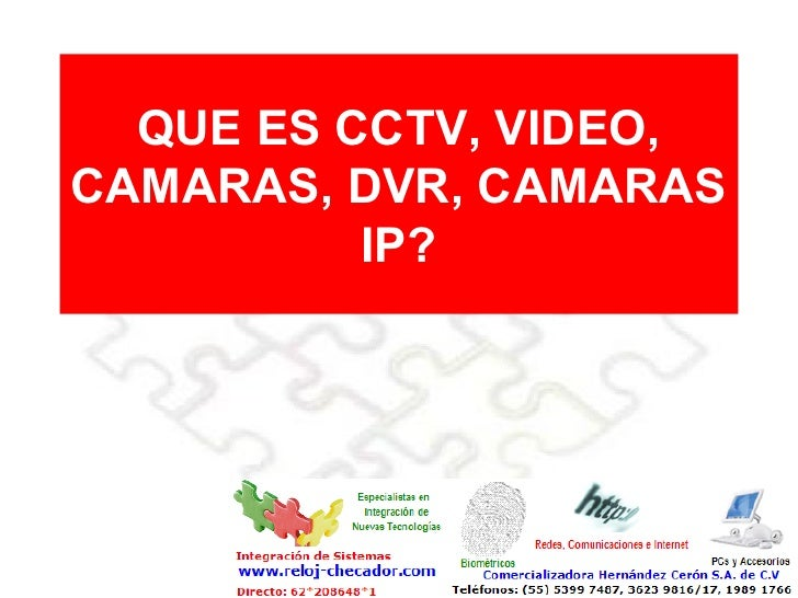 QUE ES CCTV, VIDEO, CAMARAS, DVR, CAMARAS IP?