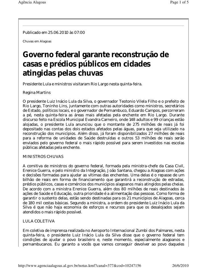 Agência Alagoas                                                                     Page 1 of 5       Publicado em 25.06.2...