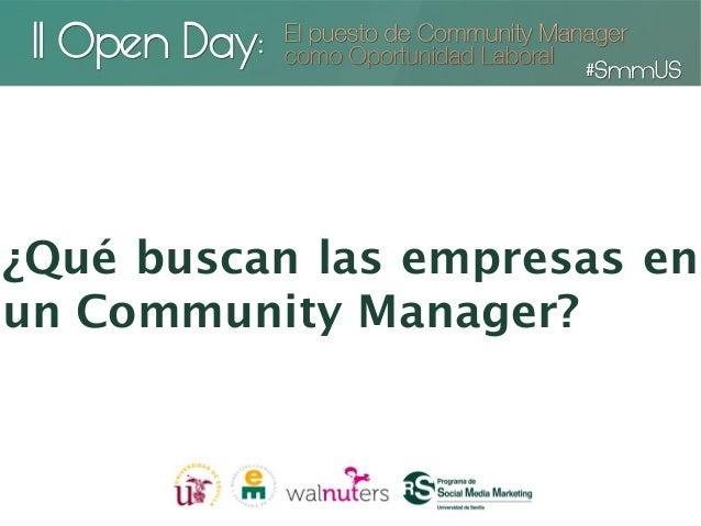 ¿Qué buscan las empresas enun Community Manager?