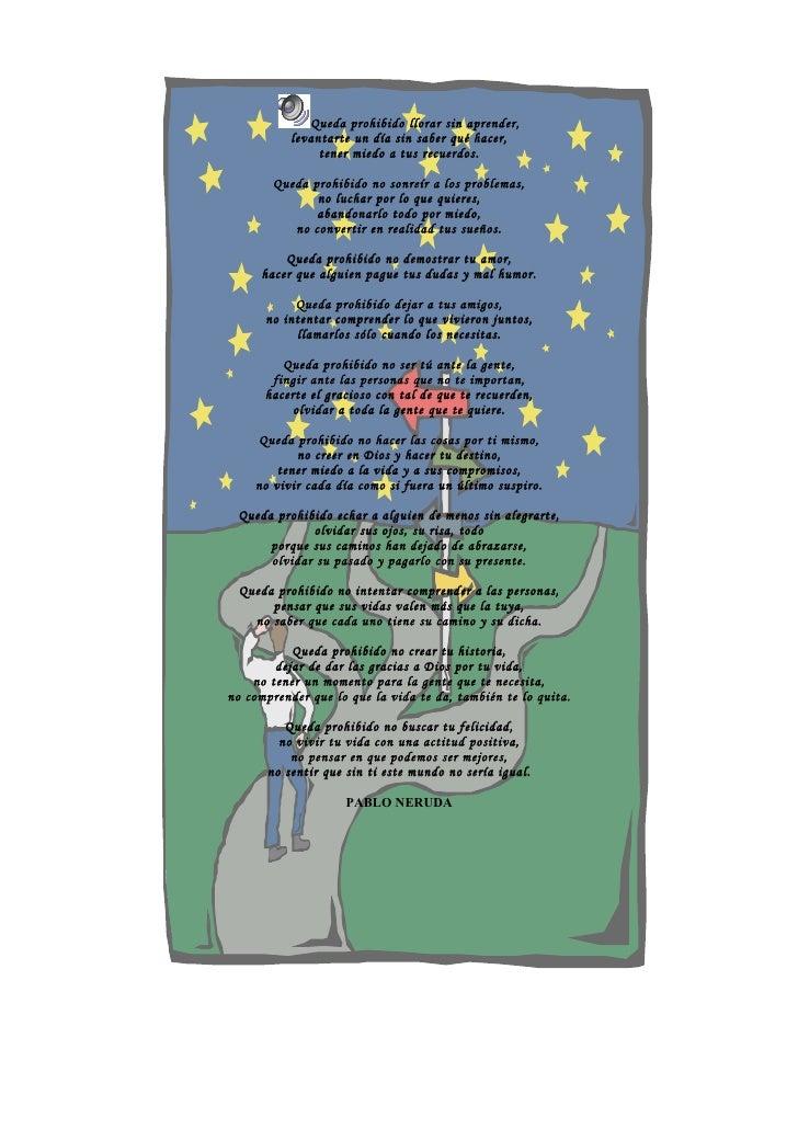Queda Prohibido Llorar Sin Aprender. Pablo Neruda