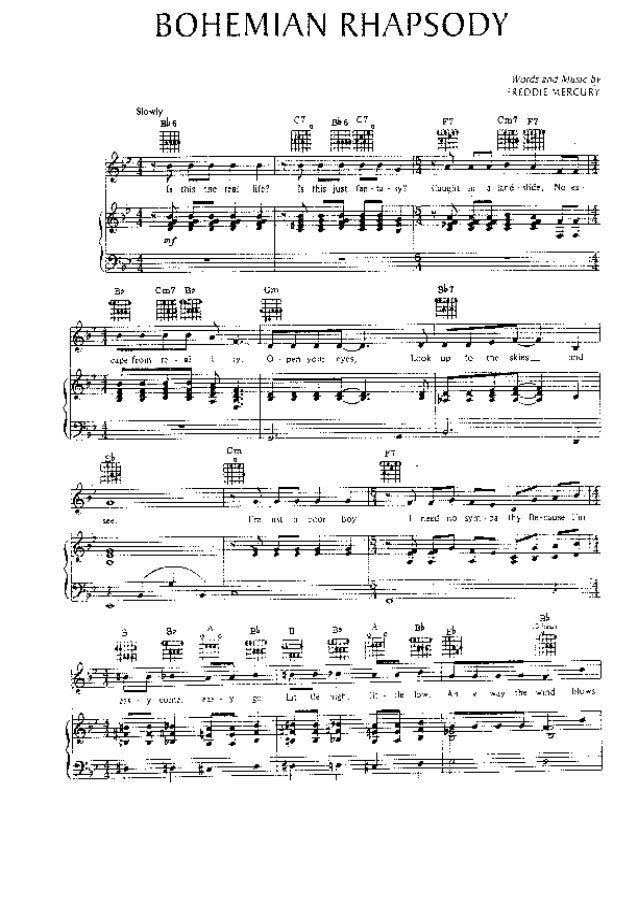 Queen bohemian rhapsody sheet music - Gli stili del potere.pdf