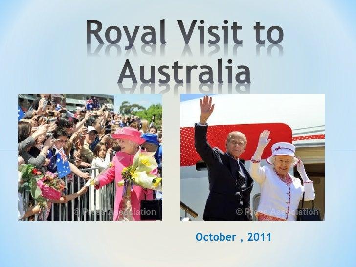 Queen in australia